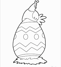 Free Printable Easter Baby Chick Coloring Pages At Easter Egg