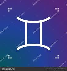 Vektor Znamení Blíženci Horoskop Symbol Ikona čáry Astrologie