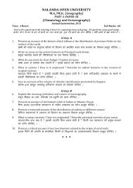 nalanda open university m a m sc geography climatology and  nalanda open university m a m sc geography climatology and oceanography 2013 question paper pdf