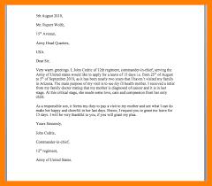 Formal Sick Leave Letter - Sarahepps.com -