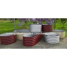 corrugated metal raised garden beds. China Corrugated Garden Bed,Corrugated Oval Or Round Galvanized Steel Metal Raised Bed Beds F