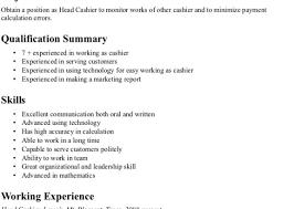 Attractive Supermarket Cashier Resume Collection Documentation