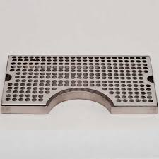 countertop drip tray with 3 cutout no drain 12 l x 7 w stainless steel