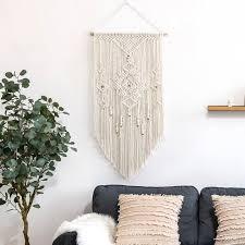 macrame woven wall hanging boho chic