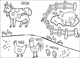 Farm Animals To Color
