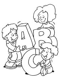 Kleurplaat Letters A B C Kleurplatennl