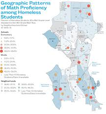 Geographic Patterns Magnificent Seattle Atlas Map Geographic Patterns Of Math Proficiency Among
