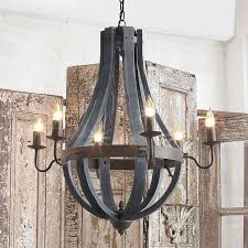 chandelier inspiring farmhouse chandeliers country style large wood sphere chandelier