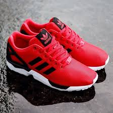 adidas shoes high tops red and black. adidas zx flux - red black white shoes high tops and
