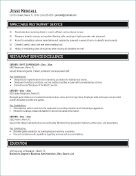 Server Job Description For Resume Mesmerizing Waitress Job Description For Resume Lovely Resume Server Job
