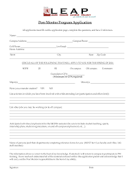 student application template free peer mentor application form templates at