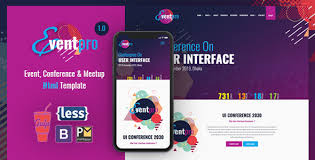 Event Website Template Inspiration Event Pro Conference Event Meetup HTML Template By Httpcoder