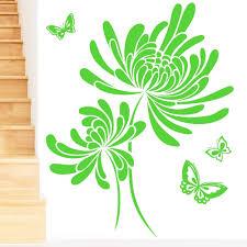 Rubybloom Designs Rubybloom Designs Butterflies With Flowers Pretty Art Wall Sticker