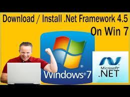install net framework 4 5 on windows 7