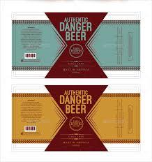 Label Design Templates Printable Beer Label Template 195 Free Premium Download