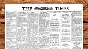 Victorian Era Newspaper Template The Times Newspaper Jigsaw Puzzles Historic Newspapers