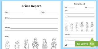 Crime Report Writing Template Crime Crime Scene Police