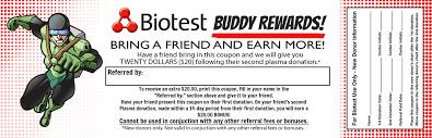 Buddy Rewards Program Biotest Plasma Center