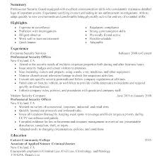 Sample Resume For Security Guard Security Guard Resume Sample Sample Resume Security Guard Security