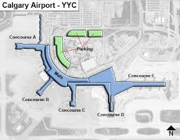 Calgary Yyc Airport Terminal Map