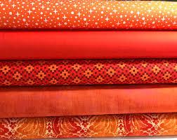 Orange quilt | Etsy & Bundle of 5 Orange Cotton Prints, Orange Quilt, Background Fabric, Orange  Stash Builder Adamdwight.com