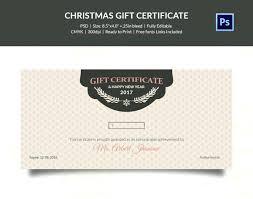 Editable Holiday Lights Gift Certificate Template Christmas