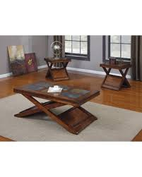 Slate top coffee table Cherry Benzara Piece Rectangle Slate Top Coffee Table Set Bm154537 Nadeau Great Deal On Benzara Piece Rectangle Slate Top Coffee Table Set