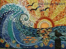 Sunset Wave, by Julie Aldridge -- one of the most beautiful mosaics I've  ever