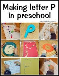 making letter P in preschool 590x761