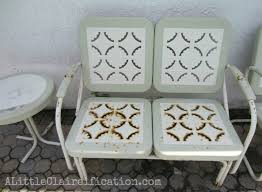 metal patio furniture makeover by alittleclaireification com alittleclaire furniture restoration