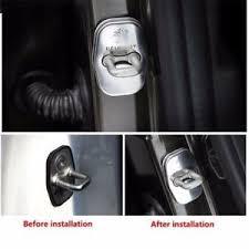 image is loading 4pcs car door striker cover stainless steel cap