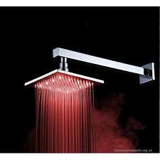 16 inch shower stainless steel top spray bathroom shower temperature control shower led lamp