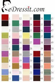 Edressit Crepe Satin Color Chart 60100101a