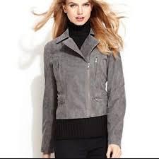 LEVI'S <b>Women's 100</b>% <b>Genuine Leather</b> Suede Moto Jacket in Gray ...