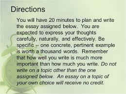 timed essays minutes ppt 2 directions