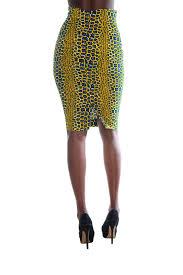 African Skirts Patterns Cool Africanclothesankarastyleprintmarilynpencilskirtback MAM MAW