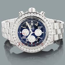 mens custom breitling super avenger diamond watch 23 78ct cases mens custom breitling super avenger diamond watch 23 78ct