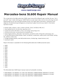 mercedes benz sl600 repair manual 1994 2009 repairsurge com mercedes benz sl600 repair manual the convenient online mercedes