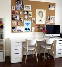 simple ikea home office. Amazing Design Ikea Ideas For Home Office : Interesting Brown Board Decor With Photots And Paintings Simple E