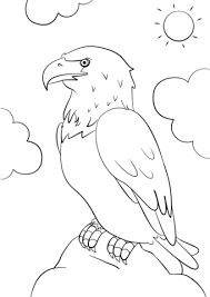 Small Picture Cartoon Bald Eagle coloring page Free Printable Coloring Pages