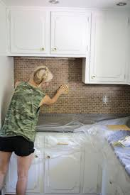 Kitchen Floor Tile Paint How To Paint A Tile Backsplash A Beautiful Mess