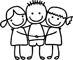 Friendship Cartoon Hug Coloring Page Best Friends Cute Girls Boy