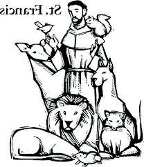St Francis Coloring Page Dariokojadininfo