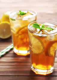glass of iced tea. Perfect Glass Glasses Of Iced Tea With Lemon Slices And Mint On Wooden Background Throughout Glass Of Iced Tea
