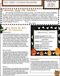 october newsletter ideas mrs gibbs class blog october newsletter