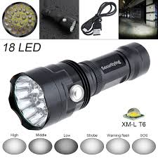 Securitying Lights Us 29 63 35 Off Securitying Super Bright 9000lm 18x Xm L T6 Led Flashlight Torch Lamp Outdoor Waterproof Led Flash Light Support Usb Charging In Led