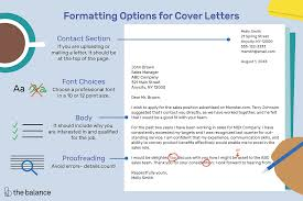 Sample Of A Professional Cover Letter How To Format A Cover Letter With Examples