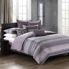 n natori abstract stripe cotton duvet cover mini set