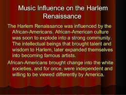 Harlem Renaissance Music And Dance