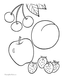 Fruit Coloring Pages Getcoloringpagescom